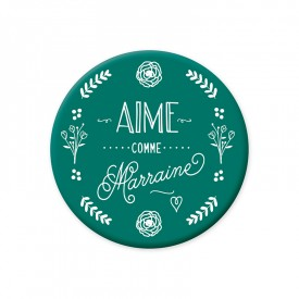 Green magnet 'Aime comme Marraine'