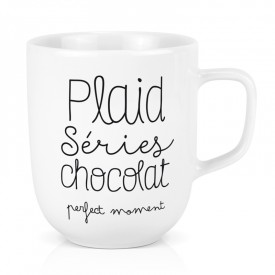 Maxi mug: Plaid séries chocolat perfect moment
