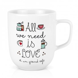 Maxi mug: All we need is love et un grand café