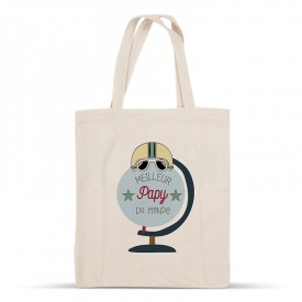 Cotton tote bag: Meilleur papy du monde