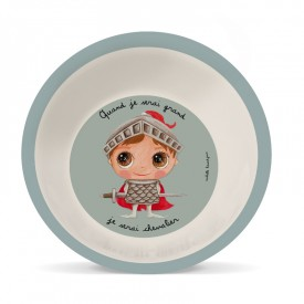 Bamboo soup plate Knight