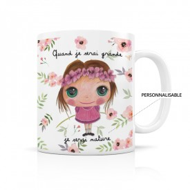 Customizable mug: Quand je serai grande, je serai nature