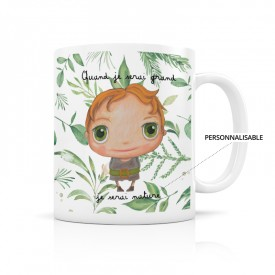 Customizable mug: Quand je serai grand, je serai nature boy