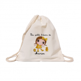 Custom cotton backbag: Easter girl