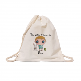 Custom cotton backbag: Easter boy