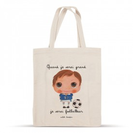 Cotton bag: When I grow up, I will be a footballer