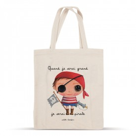Cotton bag: When I grow up, I will be a pirate