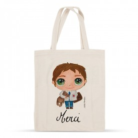 "Tote-bag Doctor ""Merci"""