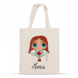 "Tote-bag Nurse ""Merci"""