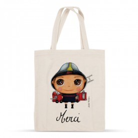 "Tote-bag Firefighter ""Merci"""