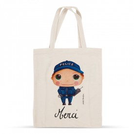 "Tote-bag Police officer ""Merci"""