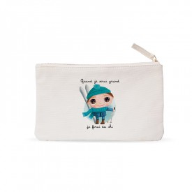 "Small pouches "" When I grow up I will ski"""