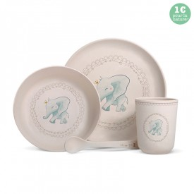 "Bamboo fibre dinner set ""Elephant"""