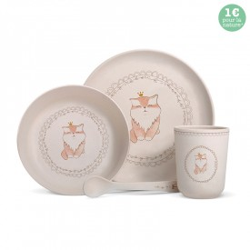 "Bamboo fibre dinner set ""Cat"""
