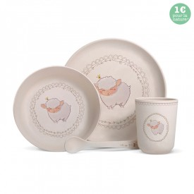 "Bamboo fibre dinner set ""Sheep"""