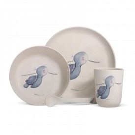 Bamboo fibre dinner set turtle