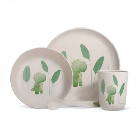 "Bamboo fibre dinner set ""Dinosaur"""