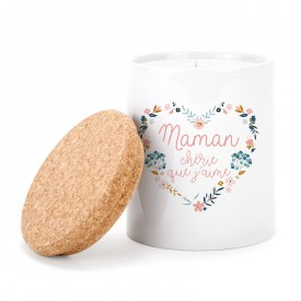 """Scented candle: """"Maman chérie que j'aime"""""""