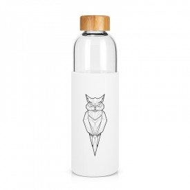 "Large glass bottle ""Owl"""