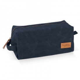 Navy wash toiletery bag