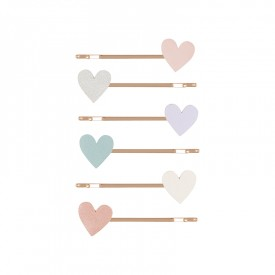 Pastel heart hair clips