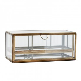 Glass box with 2 removable trays