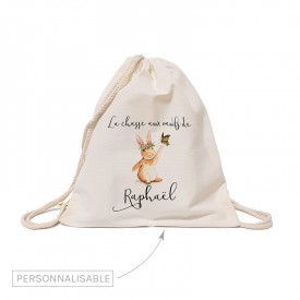Rabbit personalized backpack