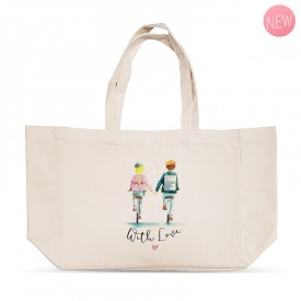 """""""With love"""" shopping bag"""