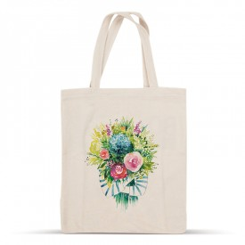 Bouquet cotton bag