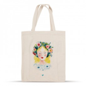 Crown of flowers cotton bag