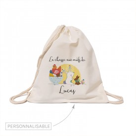 Custom cotton backbag: Easter