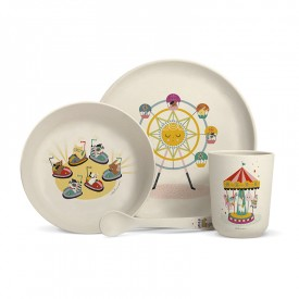 "Bamboo fibre dinner set ""Fun fair"""