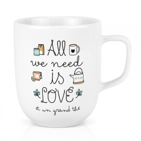 Maxi mug: All we need is love et un grand thé