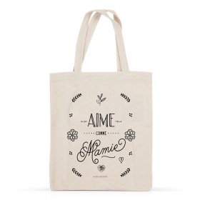Cotton tote bag: Aime comme Mamie