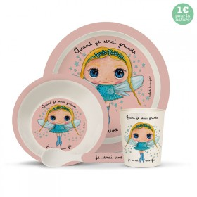 Bamboo kids meal set: Fée