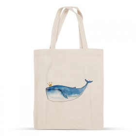 Whale cotton bag