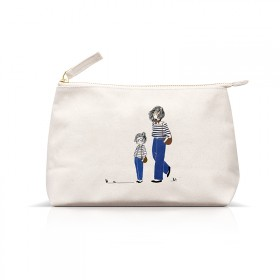 Pouches : Mother and daughter in jeans