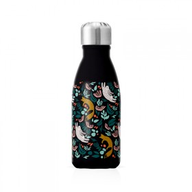 """Small insulated bottle """"Rabbits Foxes"""""""
