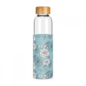 "Glass bottle ""Peonies"""