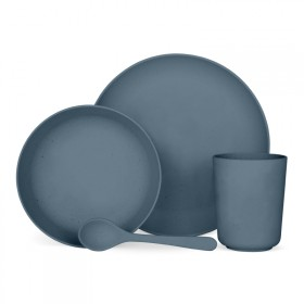 4-piece vegetable tableware set Madura blue