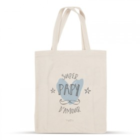 Super papy d'amour cotton bag