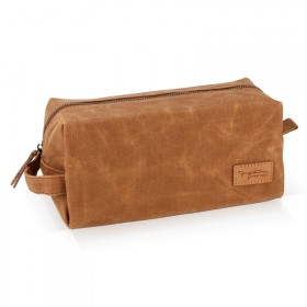 Camel toiletery bag