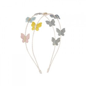 Double headband with butterfly