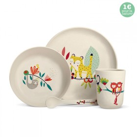 "Bamboo fibre dinner set ""Jungle"""