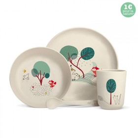 "Bamboo fibre dinner set ""Forest"""