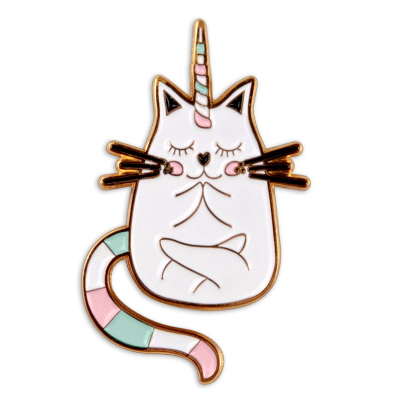 Pin's chat licorne