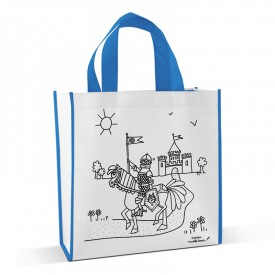 Shopping bag to colour Knight by Marielle Bazard