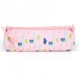 Pencil case Lama rose