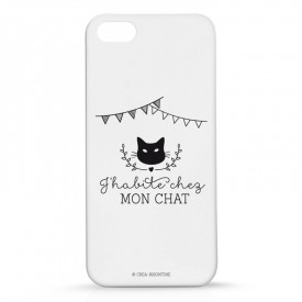 Iphone case 5 : J'habite chez mon chat by Créa bisontine