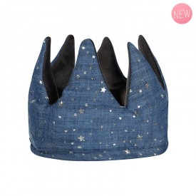 Reine Mimi Reversible Blue Fabric Crown